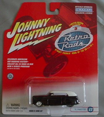 Johnny Lightning Retro Rods '41 Phaeyton BLACK #17
