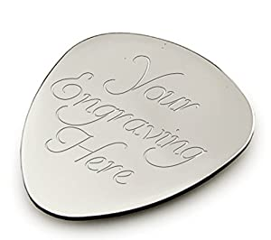 Personalised Silver Guitar Plectrum / Pick ENGRAVED FREE