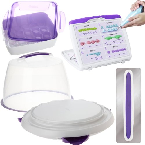 Other Kitchen, Dining & Bar - Wilton Deluxe Cake Decorating Kit with ULTIMATE Trim-N-Turn Caddy ...
