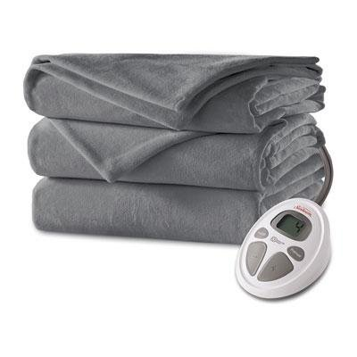 Sunbeam Micro Plush Electric Blanket, Twin, Slate