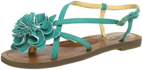 Buffalo Girl 312-3637 IMI SUEDE Sandals Women green Grün (GREEN 02) Size: 6 (39 EU)