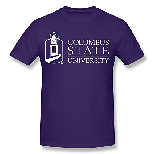 cheap-no-minimum-custom-printed-adult-columbus-state-university-logos-tees-small-purple