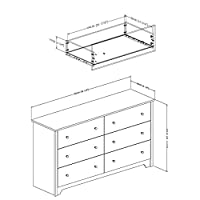 South Shore Vito Collection 6-Drawer Double Dresser