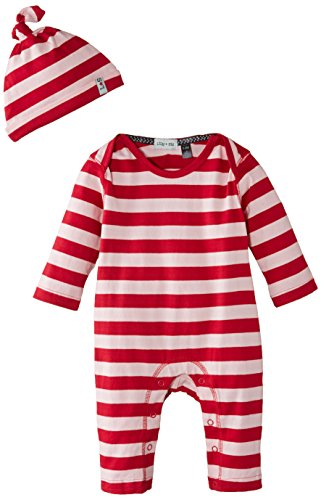 Lilly and Sid - Stripey Playsuit And Hat With Gift Box Girl, Pagliaccetto da bimba, rosa (rosa), Taglia produttore: 3-6 Mesi