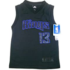 Tyeke Evans Sacramento Kings Youth Large Size 14-16 Jersey Revolution 30 by adidas