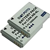 2 x Canon NB-6L PREMIUM Replacement Rechargeable Camera Battery from Dot.Foto - 2 Year Warranty