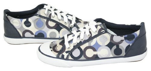 Coach Op Art Signature Sateen Blue Multi Ladies Sneaker Shoes A1664