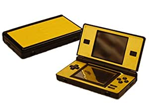 nintendo ds lite skin dsl new brushed gold system skins faceplate decal mod. Black Bedroom Furniture Sets. Home Design Ideas