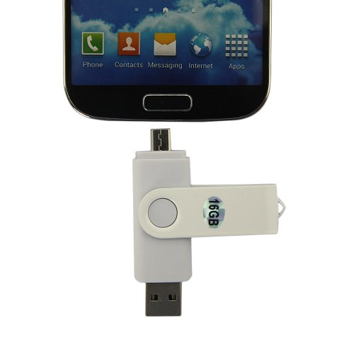 Dbpower(Us Seller) 16Gb New U-Disk V2.0 Micro Usb Flash Drive For Andorid Smartphone Tablet Pc White
