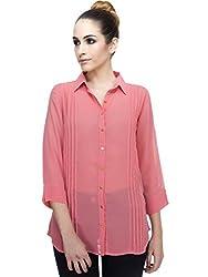 ZAIVAA Jada Pinktucked Shirt