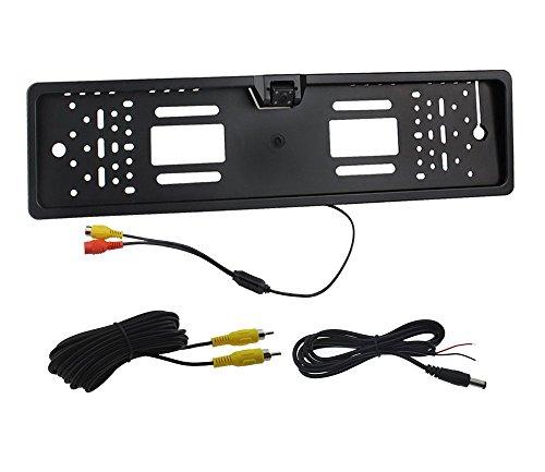 Auto-Rover-tanche-europenne-Support-de-Plaque-voiture-Camra-de-recul-avec-4-LED-Night-Vision-DC12V-Noir