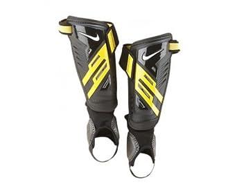 NIKE Schienbeinschoner Protegga Shield - Tobillera para voleibol ( fútbol ), color negro, amarillo, talla L