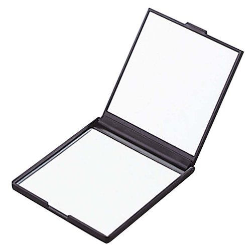 拡大鏡両面コンパクトミラー Y8071 BK