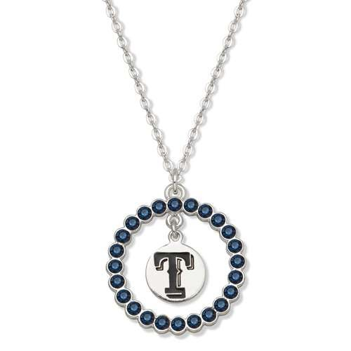 MLB Texas Rangers Spirit Crystal Logo Wreath Necklace at Amazon.com