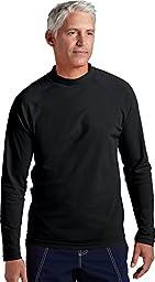 Coolibar UPF 50+ Men\'s Long-Sleeve Swim Shirt (X-Large - Black)