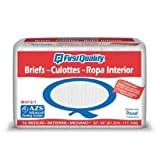 First Quality Total Care IB Adult Briefs, Medium, 16 Count (Pack of 6)