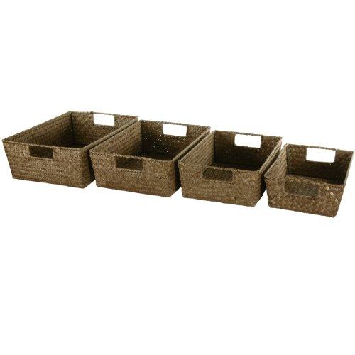 Oriental Furniture Hand Plaited Basket Tray Set front-458454