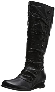 Miz Mooz Women's Bloom Riding Boot, Black, 6 M US