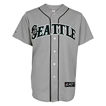 MLB Seattle Mariners Away Replica Jersey, Gray by Majestic
