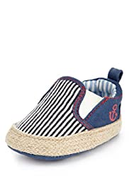 Striped Pram Shoes