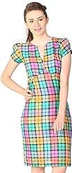 Unimod Women's Plain Dress (Multicolour, XS)
