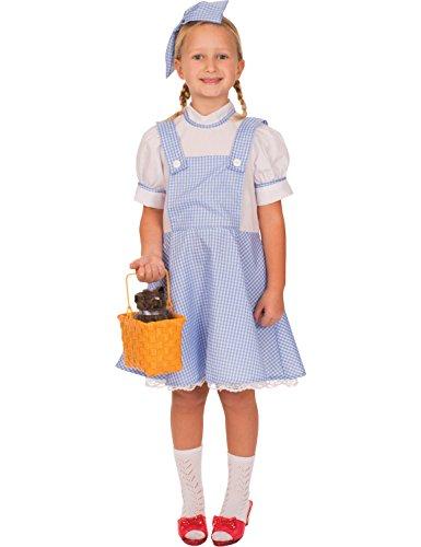 Costume Carnevale Travestimento Dorothy - bambina 4-12 anni Small