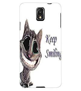 ColourCraft Funny Cat Design Back Case Cover for SAMSUNG GALAXY NOTE 3