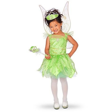 Disney Store Tinkerbell Fairy Costume Dress Size Large 10 (Glow In The Dark)