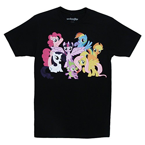 My Little Pony Mane 6 Cast TV Show Cartoon Mighty Fine Adult T-Shirt Tee XL (Pinkie Cast compare prices)