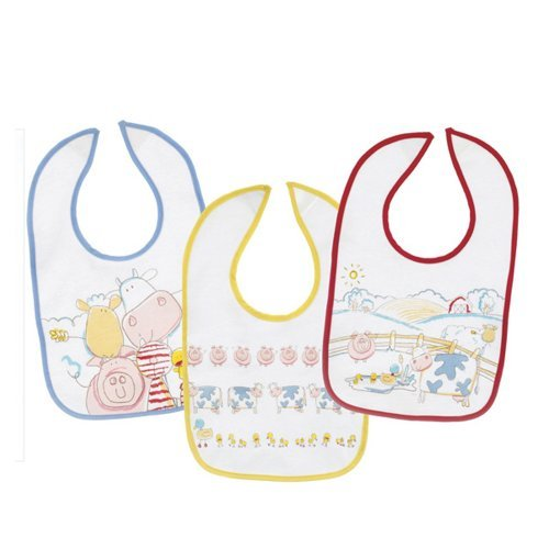 Ganz Baby Bibs 3-piece Coordinating Set, Farm Animals