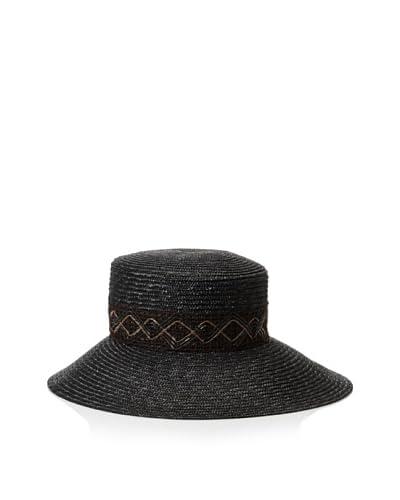 Giovannio Women's Milan Braid Zigzag Hat, Black