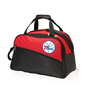 NBA Philadelphia 76ers Tundra Insulated Cooler Duffel Bags, Red by Picnic Time