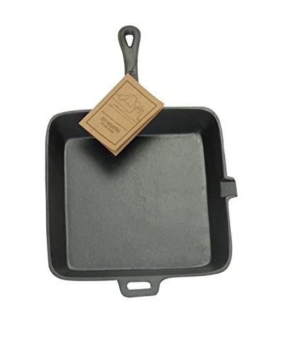 Old Mountain Pre-Seasoned Square Skillet with Assist Handle
