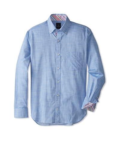 TailorByrd Men's Los Angeles Long Sleeve Solid Sportshirt