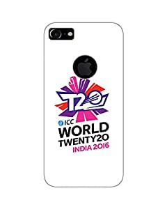 GripIt World T20 (White Background) Back Cover for Apple iPhone 7