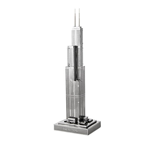 3d metal model kit sears tower chicago statue toy building for Architectural decoration crossword clue