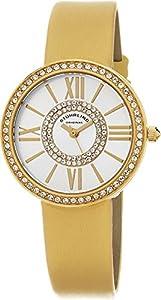 Stuhrling Original Women's 566.04 Vogue Analog Display Quartz Yellow Watch