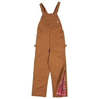 Rasco FR Mens Insulated FR Brown Duck Bib Overall by Solid Gold Bomb
