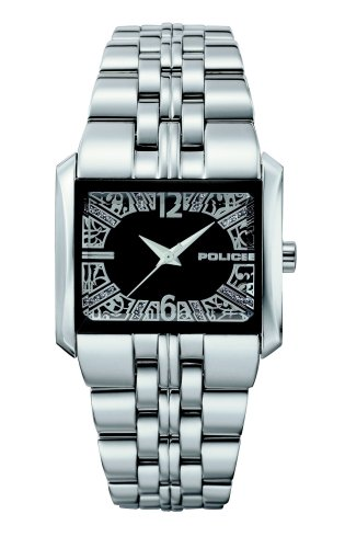 Police 'W-Matrix' Ladies Stainless Steel Bracelet With Black Dial Watch