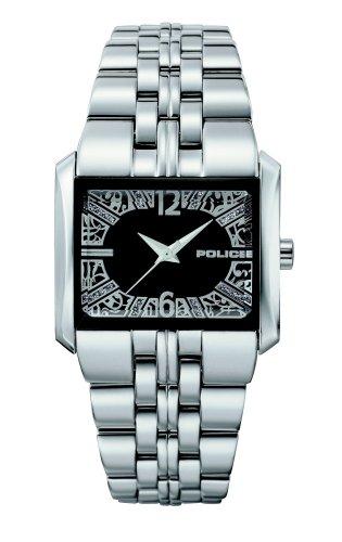 Police 'W-Matrix' Ladies Stainless Steel Bracelet With Black Dial Watch