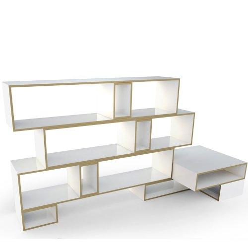 REGALEO - SET 1 +++ flexibel gestaltbares Designer-Regalsystem aus Berlin +++ elegant minimalistisches Design +++ hochwertige weisse Oberfläche +++ MADE IN BERLIN