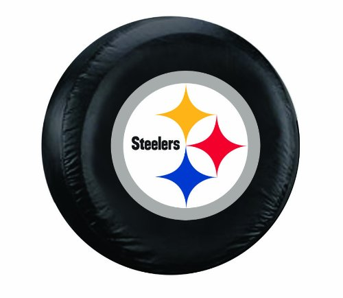 NFL Pittsburgh Steelers Tire Cover, Black, Large (Steeler Tire Covers compare prices)