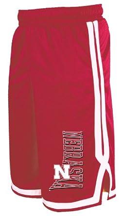 NCAA Nebraska Cornhuskers Men's Long Mesh Pocket Short, True Red/White, Small