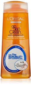 L'Oreal Paris Go 360 Clean Anti-Breakout Facial Cleanser, 6.0 Fluid Ounce