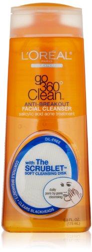 L'Oreal Paris Go 360 Clean Anti-Breakout Facial Cleanser, 6.0 Fluid Ounce front-531286