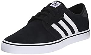 adidas Originals Men's Seeley Skate Shoe,Black/White/Black,9.5 M US