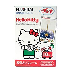 Fuji Instax Mini Instant Film with Character Frame -Hello Kitty-