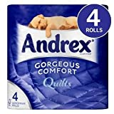 Andrex Gorgeous Comfort Quilts White Toilet Tissue 4 Rolls