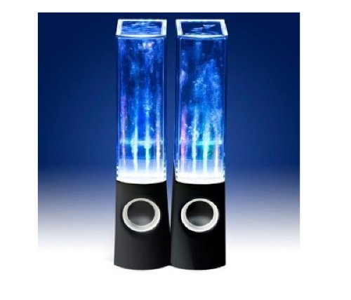 Usb Led Dancing Water Show Speakers Music Fountain For Pc Laptop Black