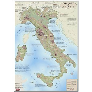 Wine Map of Italy: Vin Maps: Amazon.com: Office Products